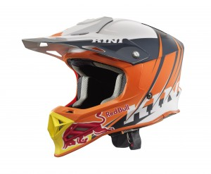 KINI Red Bull Competition Helmet V2.1 - Orange/White/Anthrazite
