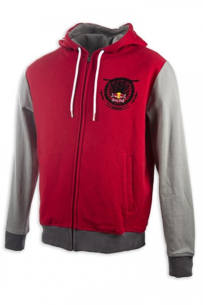 KINI Red Bull Crest Hoodie Red/Grey
