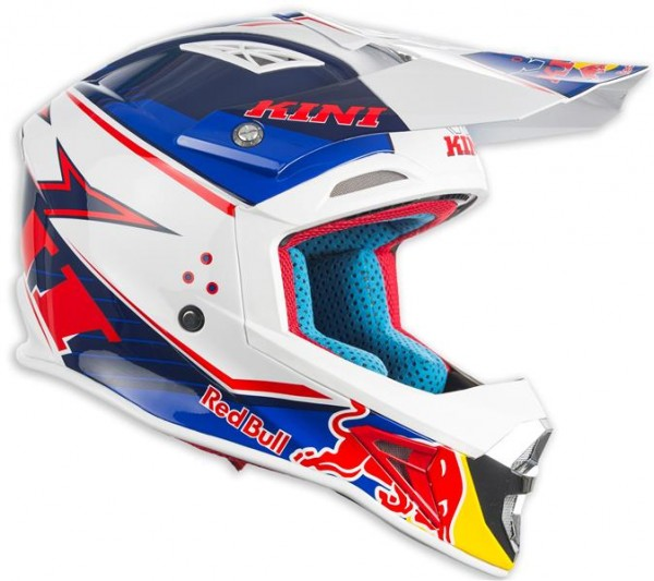 KINI Red Bull Competition Helm Navy White