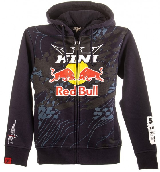 KINI Red Bull Kids Topography Zip Hoodie - Night Sky